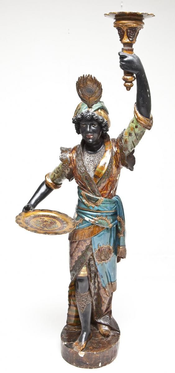 19th C Venetian Blackamoor ($5,000)