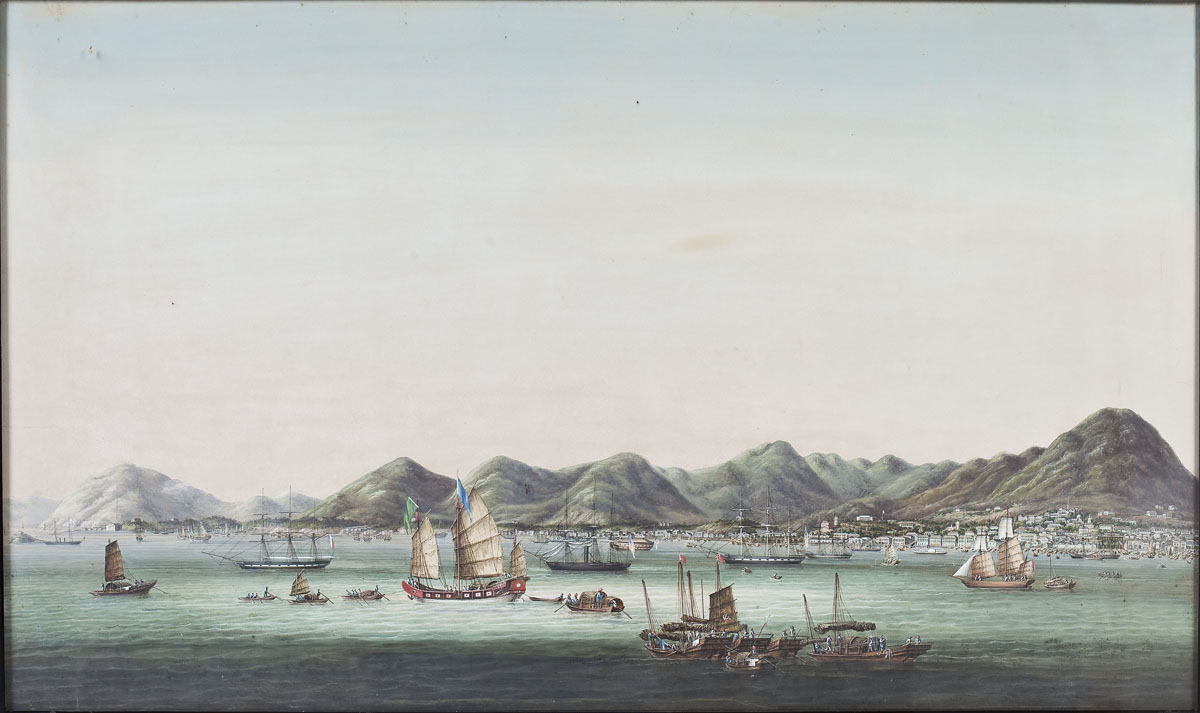 19th Century Trade Painting of Hong Kong Harbor ($9,500)