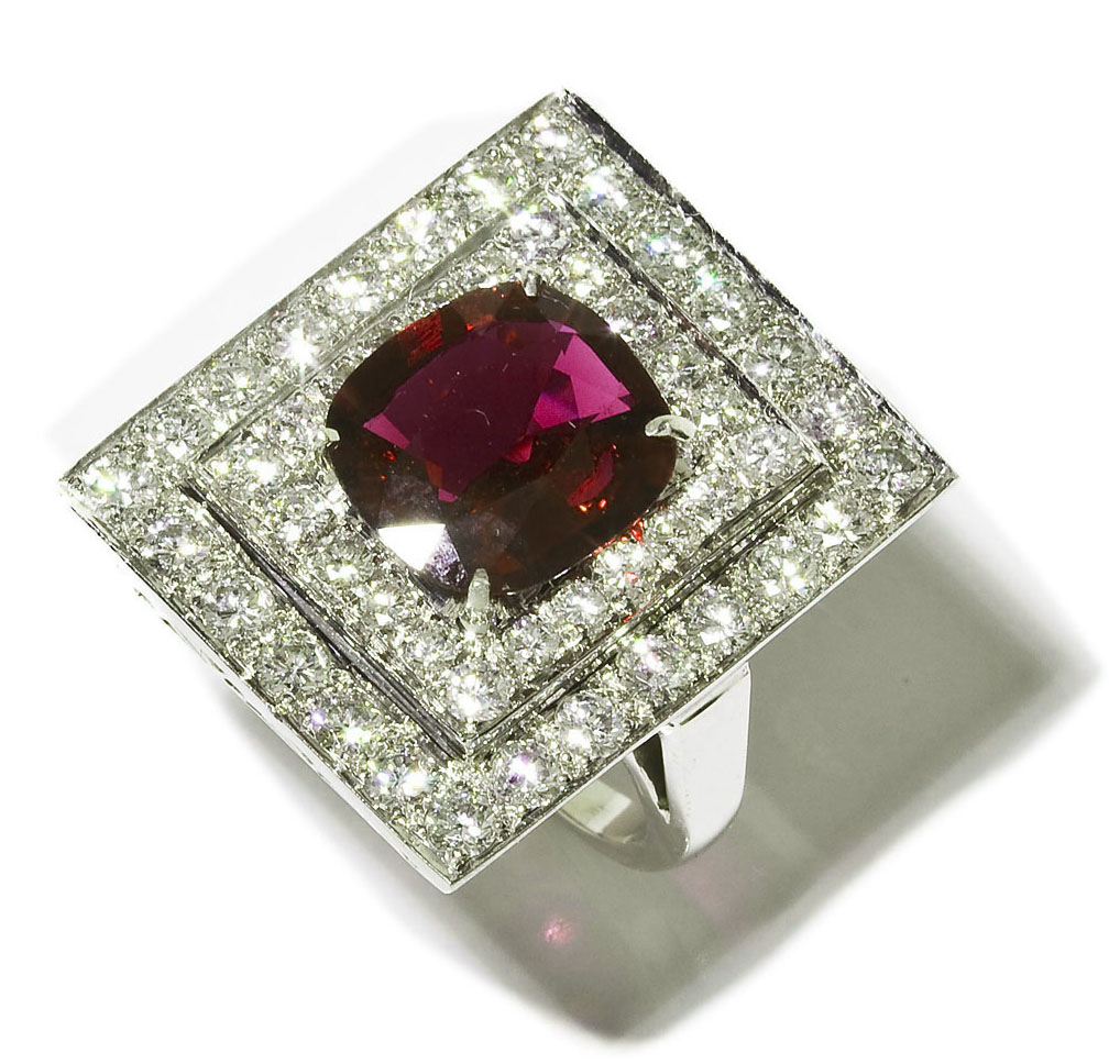 4.78 Carat Ruby and Diamond Ring ($13,000)