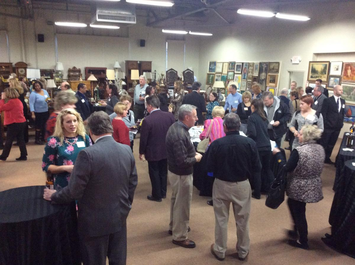 Attendees enjoying the Business After Hours