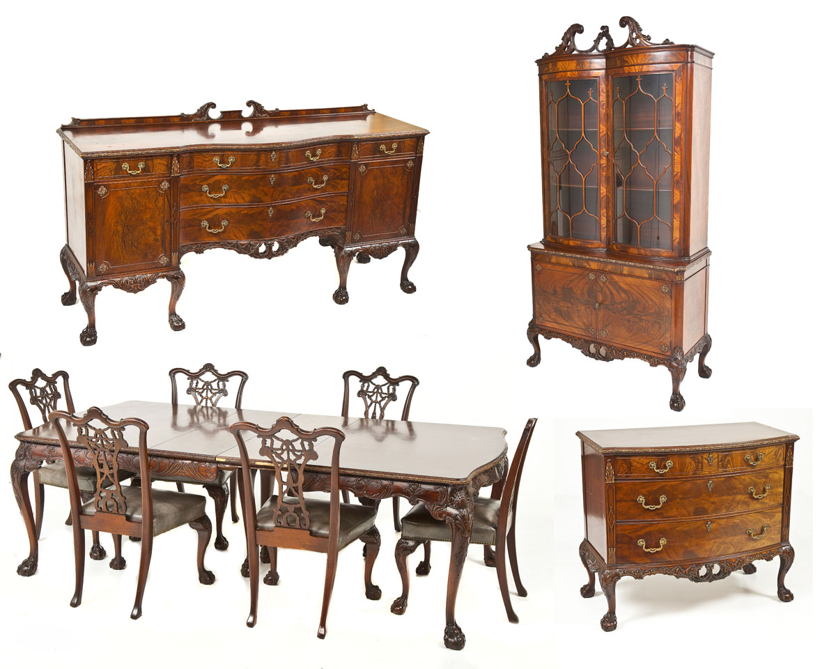 Chippendale Style Dining Suite ($)