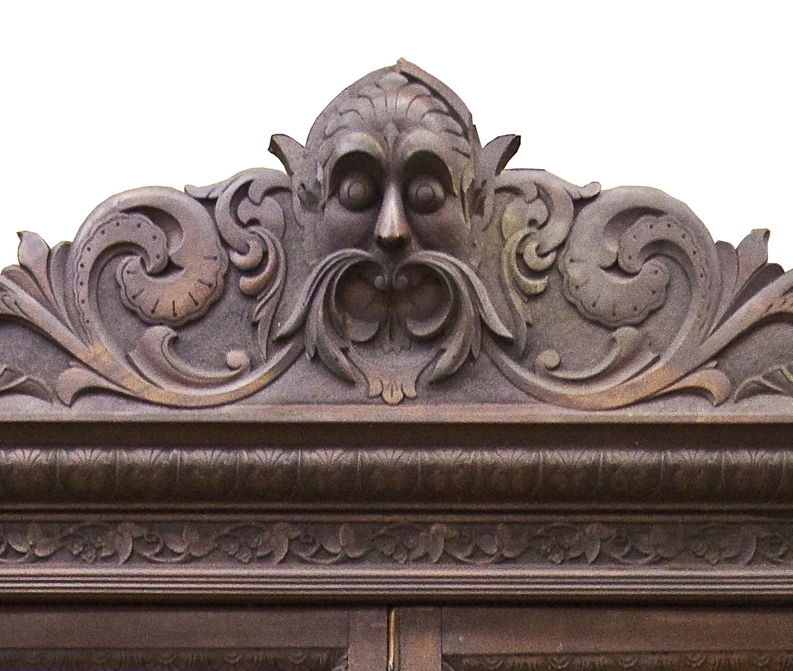 Detail of Corner Cupboard c 1870-1880 Daniel Boone Homestead, Birdsboro