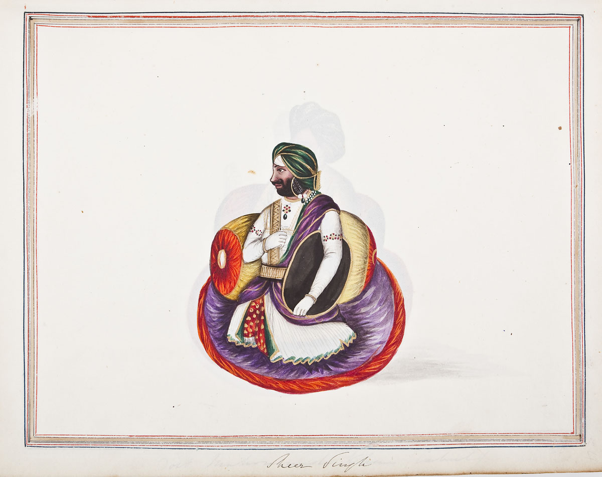 From 19th C Album of Watercolors of India ($6,500)