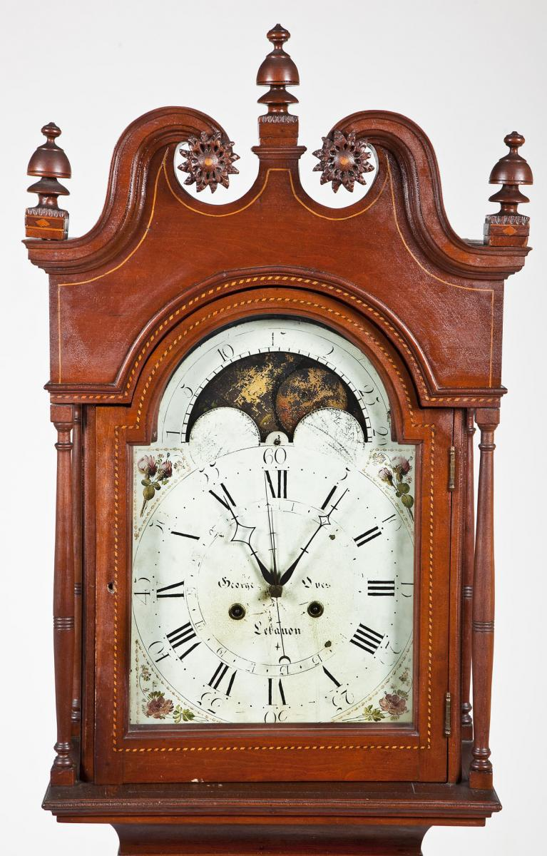 George Oves Lebanon County Tall Case Clock ($8,000-12,000)