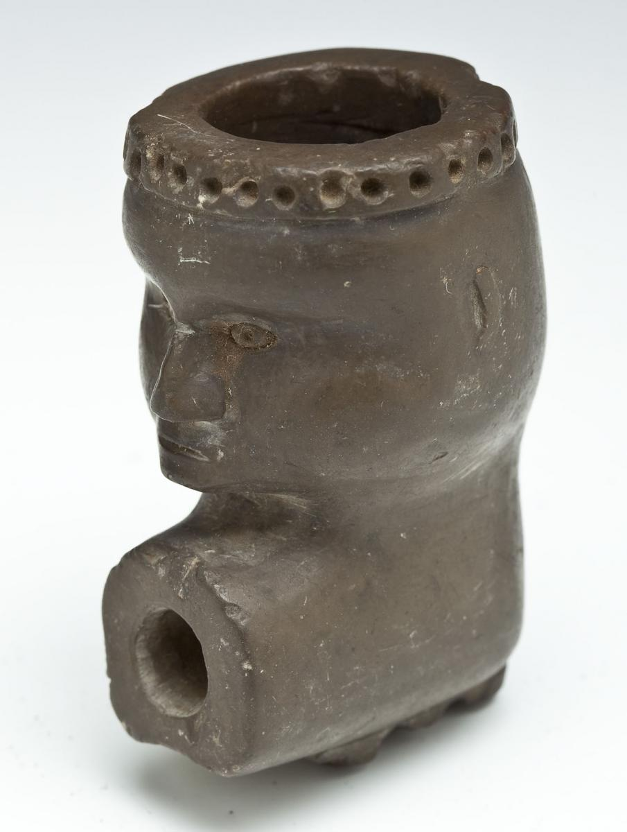 Native American Steatite Effigy Pipe ($4,000)