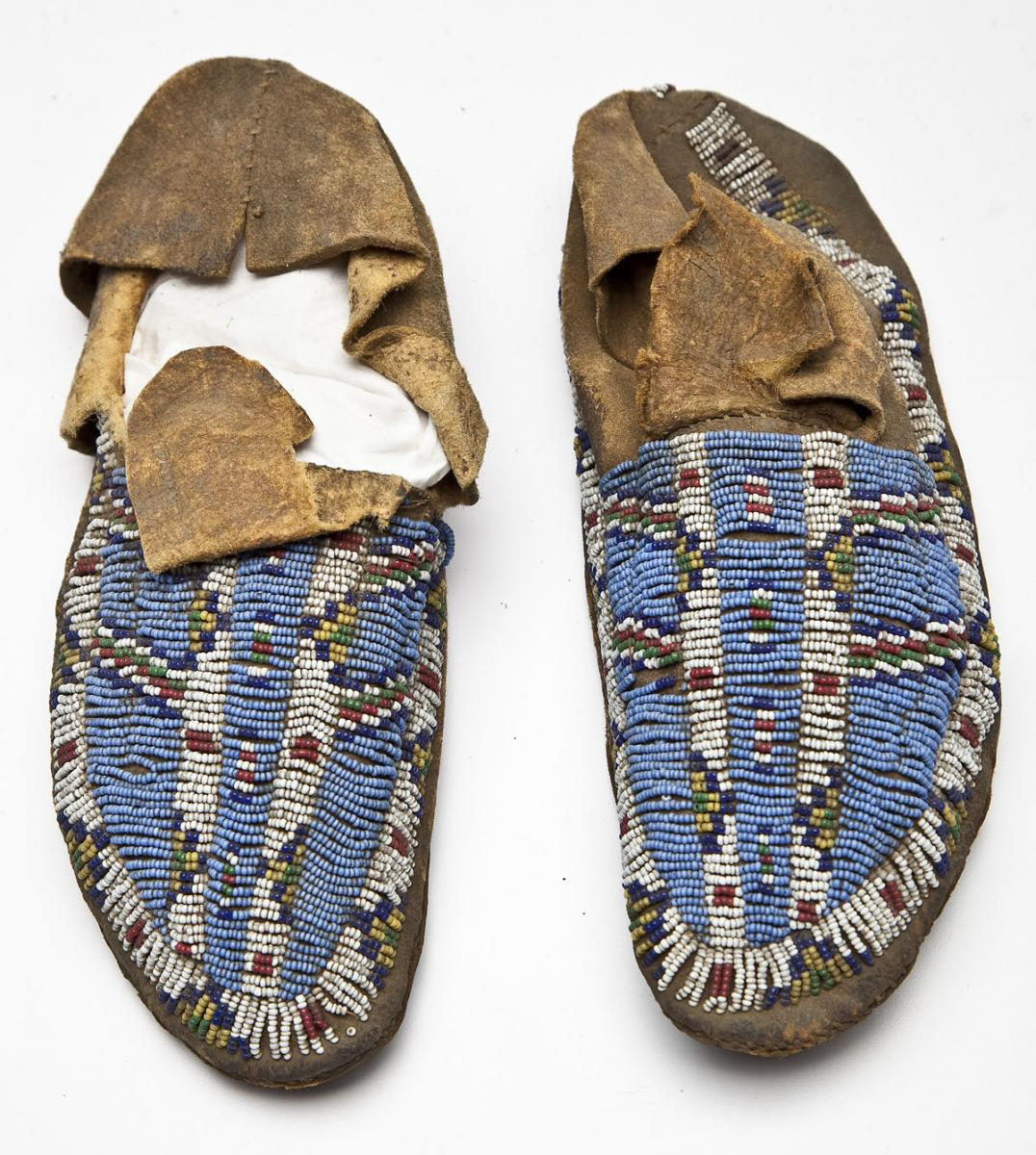 Pair of 19th Century Sioux Beaded Moccasins ($600)