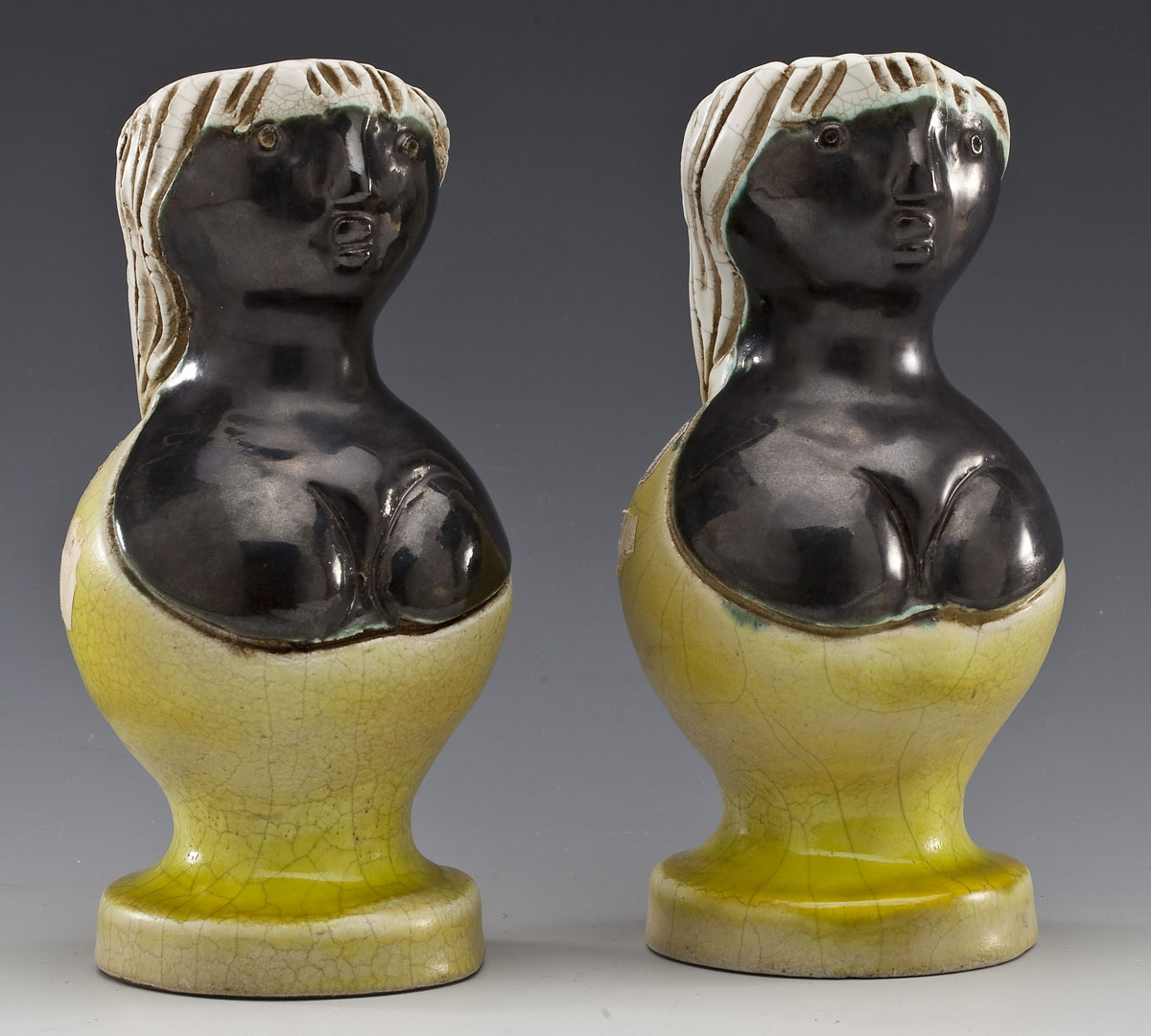 Pair of Figural Vases by Georges Jouve ($4,200)