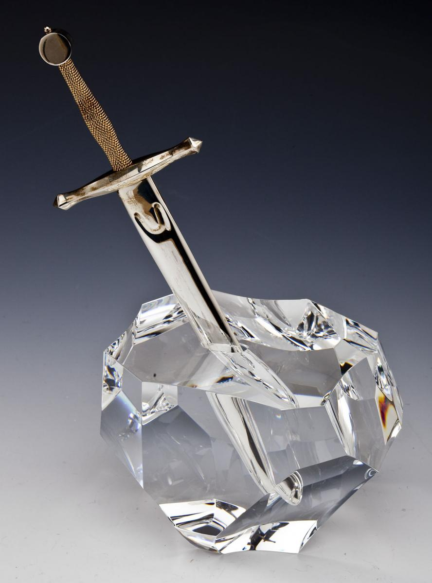 Steuben Excalibur Paperweight and Letter Opener - $2,000